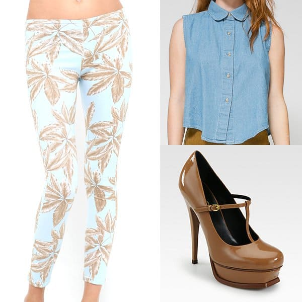 Outfit with palm leaf pants
