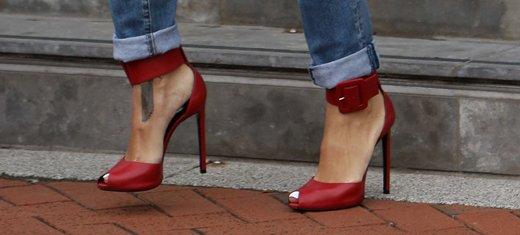 Rihanna Sexy Red Heels