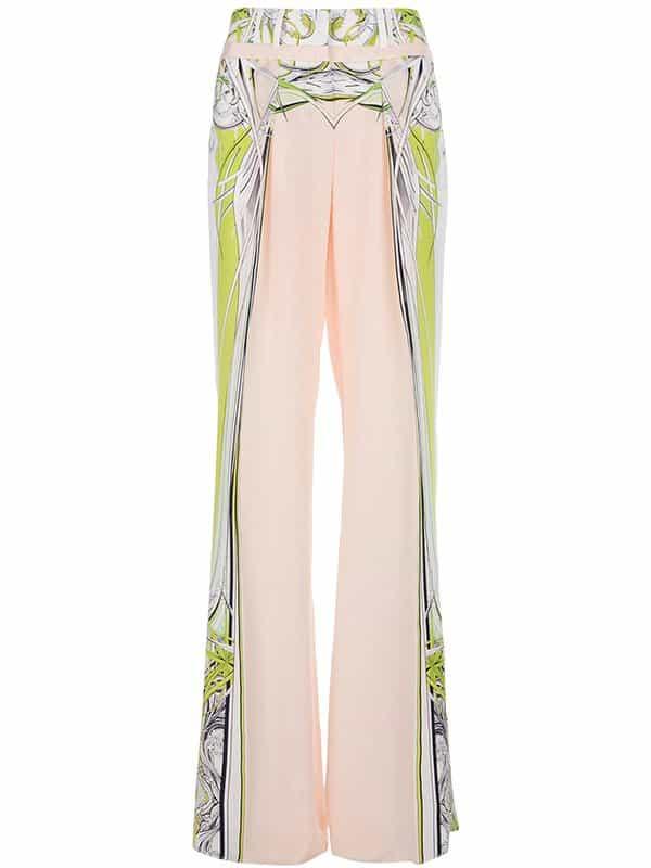 Robert Cavalli Silk Printed Trousers