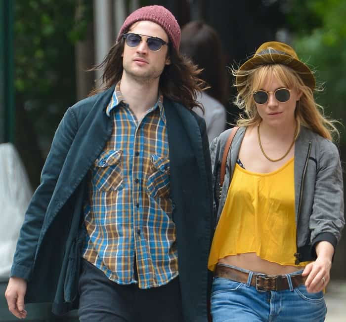 Tom Sturridge and Sienna Miller out for breakfast in the West Village, New York City on June 6, 2013