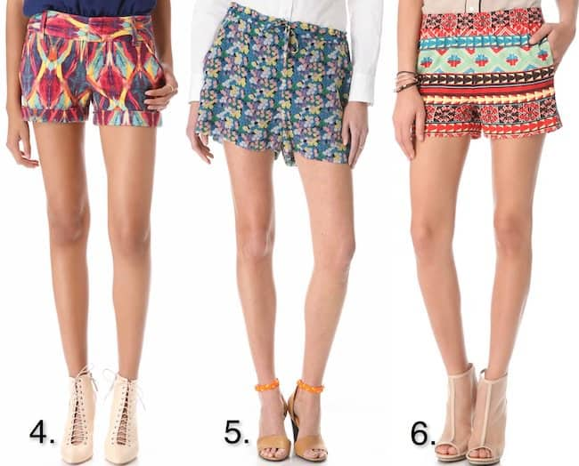 Colorful printed shorts