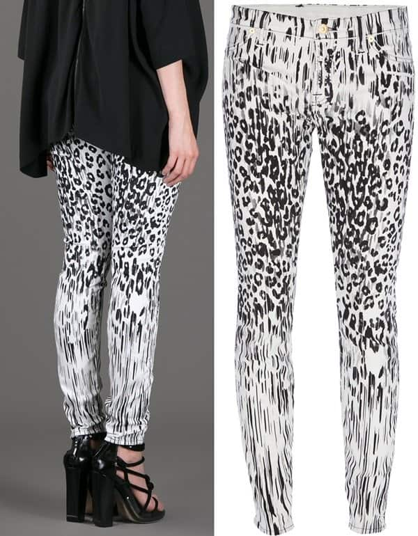 7 for All Mankind Leopard Jeans