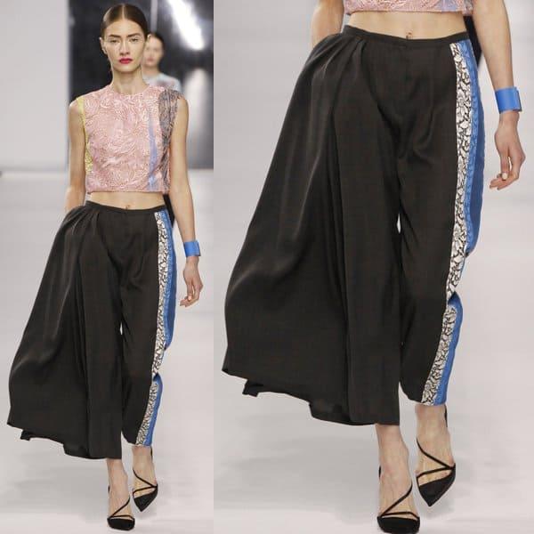 Christian Dior Charcoal Wool Pants