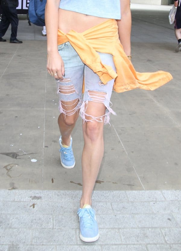 Eliza Doolittle wore a pair of shorts that look like they just got chomped on by a bunch of playful and curious dogs