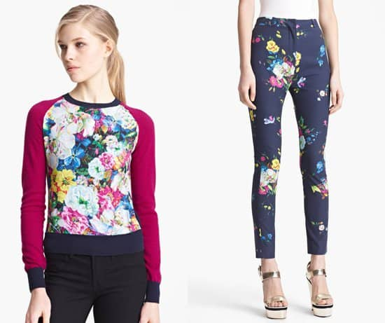 Erdem floral pants and sweater