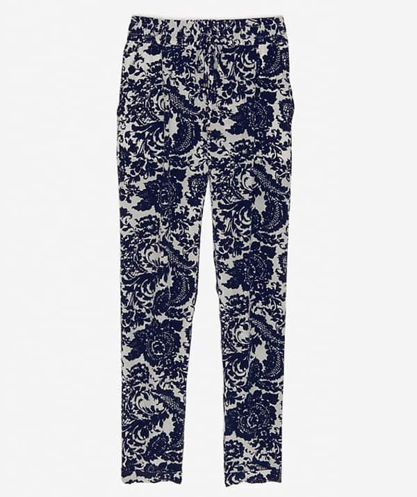 Intermix Silk Paisley Pants