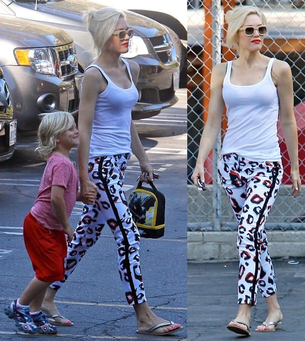 Gwen Stefani and Zuma Rossdale out and about in Beverly Hills, Los Angeles, on July 24, 2013