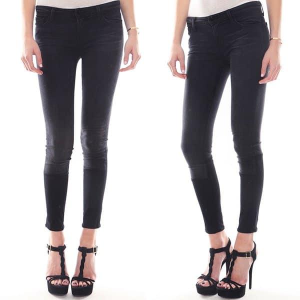 J Brand Stepped Hem Skinny Jeans