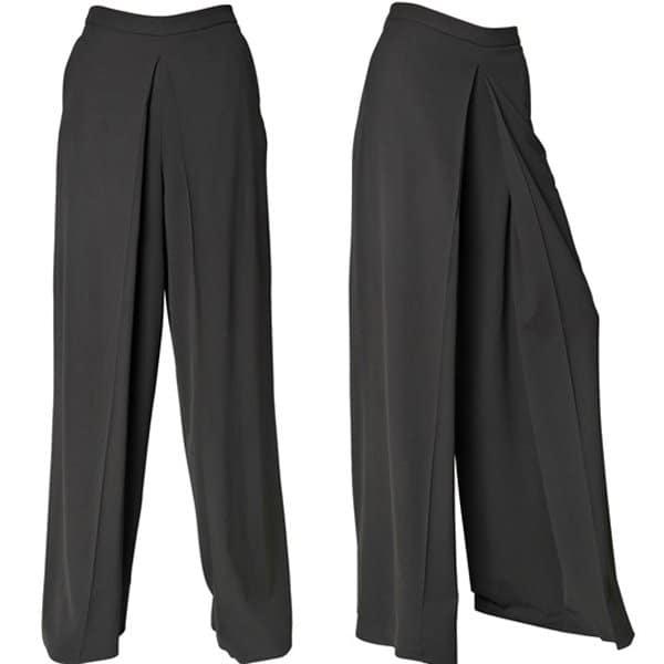 Jean-Paul Gaultier Stretch Wool Wide Leg Trousers