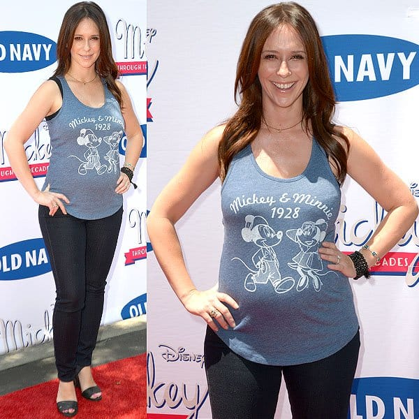 Jennifer Love Hewitt at the Old Navy & Disney present 'Mickey Through the Decades Collection' event held at Walt Disney Studios in Burbank, California, on July 13, 2013