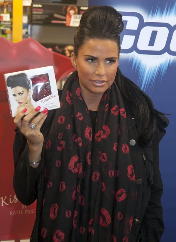 Katie Price at the launch of her new fragrance called Kissable