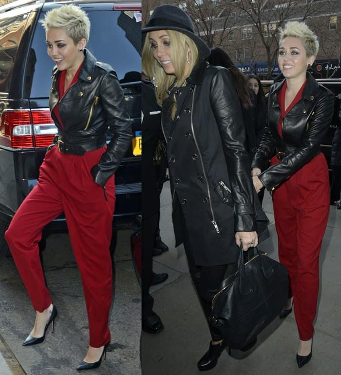 Miley Cyrus and her mother Tish Cyrus return to their Manhattan hotel