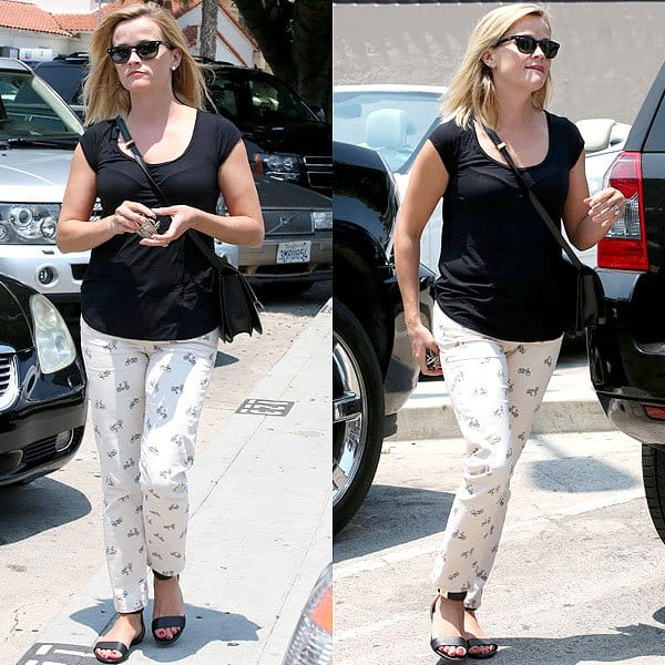 Reese Witherspoon lunch at Divino Brentwood