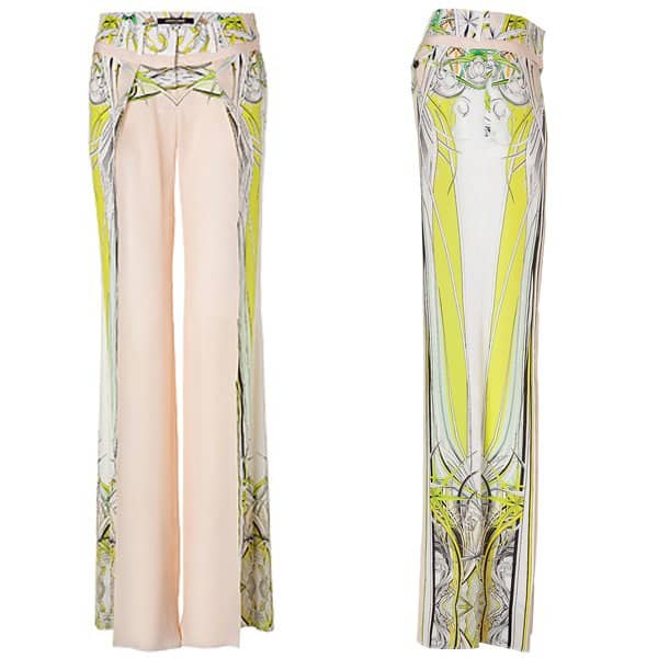 Roberto Cavalli Wide Leg Silk Pants