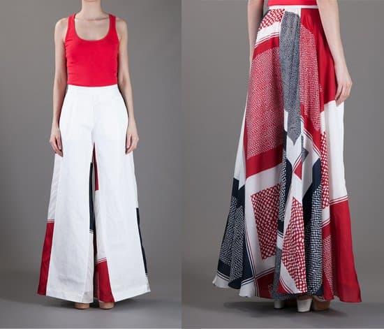 Sacai Patchwork Trouser
