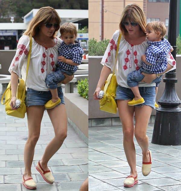Selma Blair out and about with her son