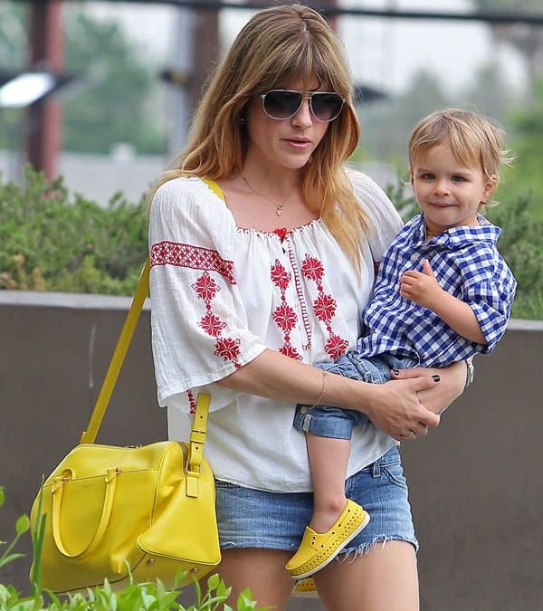 Selma Blair With Her Son