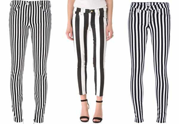 Striped Jeans Set A