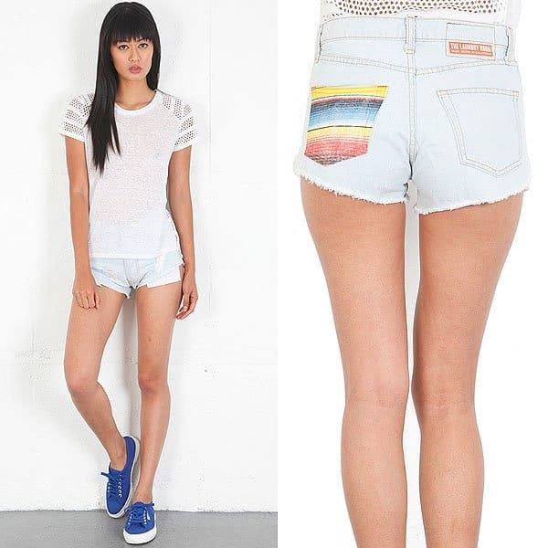 The Laundry Room Baja Stripe shorts