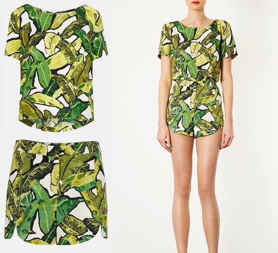 Topshop Banana Leaf Print1