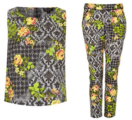 Topshop floral pants and top