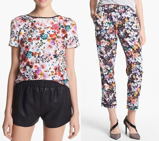 WAYF floral pants and top