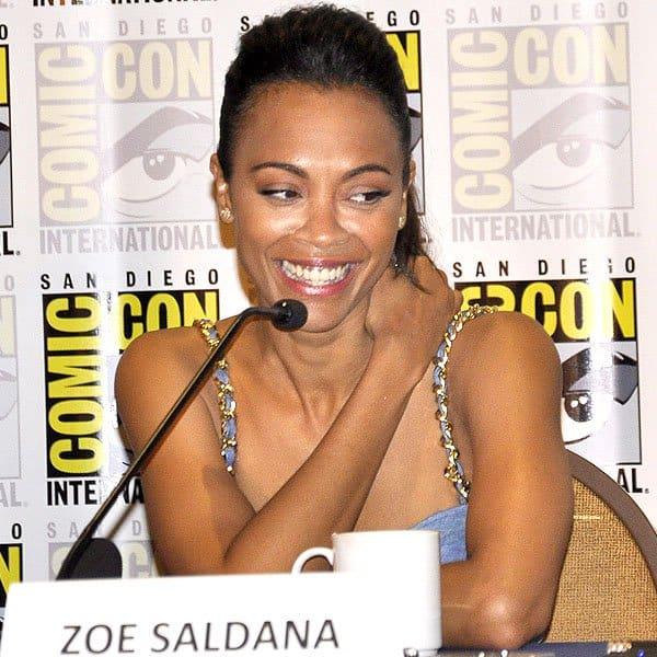 Zoe Saldana at the 'Guardians of the Galaxy'panel at Comic-Con 2013