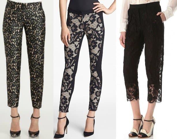 Black Lace Pants