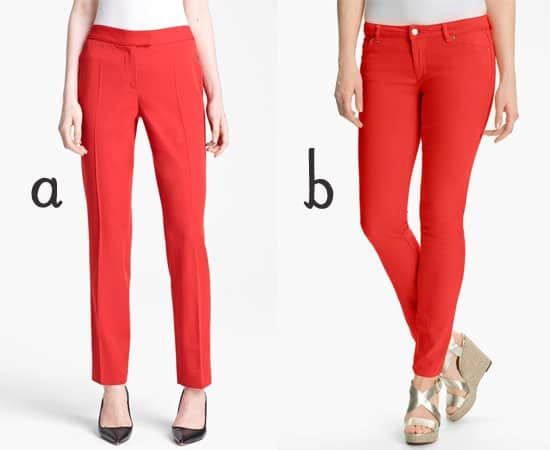 Moschino Cheap & Chic Wool Gabardine Trousers and MICHAEL Michael Kors Color Skinny Jeans