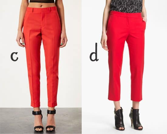 Topshop Skinny Trousers and Vince Camuto Skinny Ankle Pants