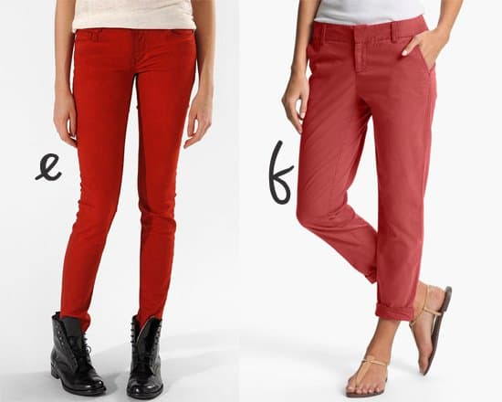 Maje Javaro Colored Slim-Leg Stretch Jeans and Caslon Chino Ankle Pants
