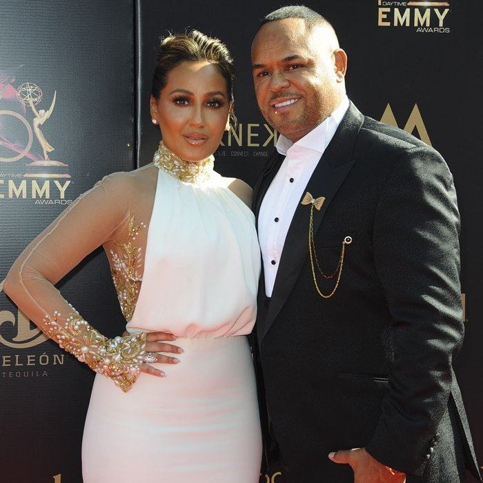 Adrienne Houghton and her husband Israel Houghton arrive at the 46th Annual Daytime Creative Arts Emmy Awards