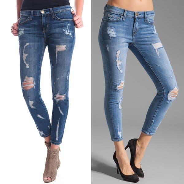 Current-Elliott The Stiletto Jeans Shredded