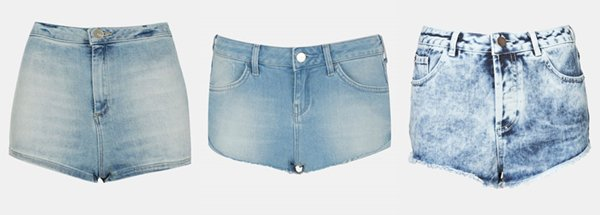Denim shorts inspired by Mollie King