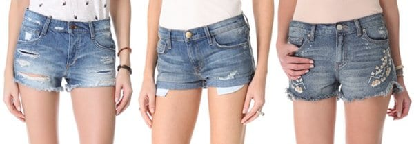Denim shorts inspired by Una Healy