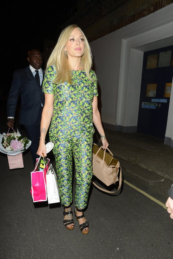 Fearne Cotton outside the 'Celebrity Juice' Riverside studio in London, United Kingdom, on August 28, 2013
