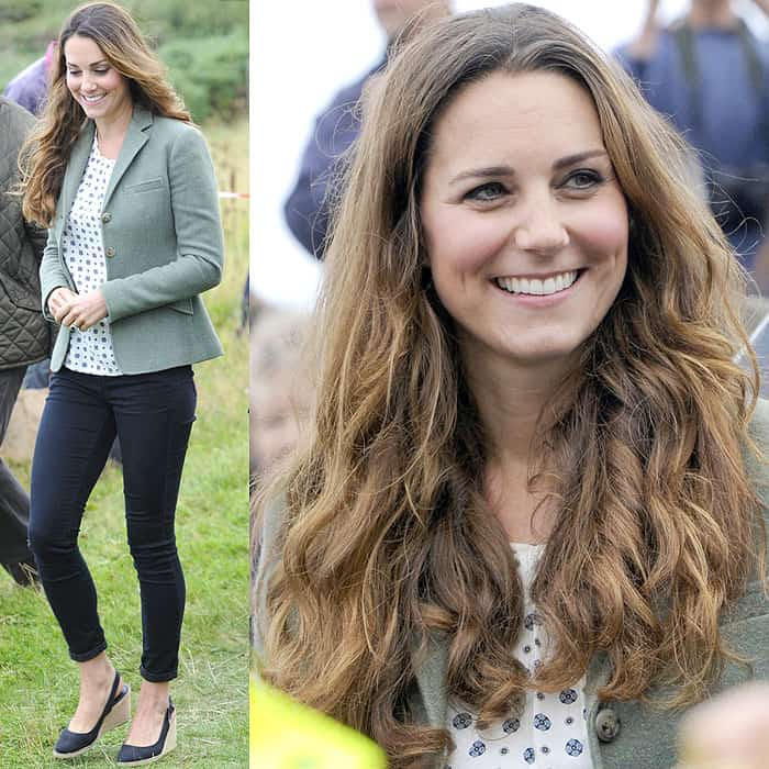 Kate Middleton shows off her relatively fuller post-baby body in maternity jeans