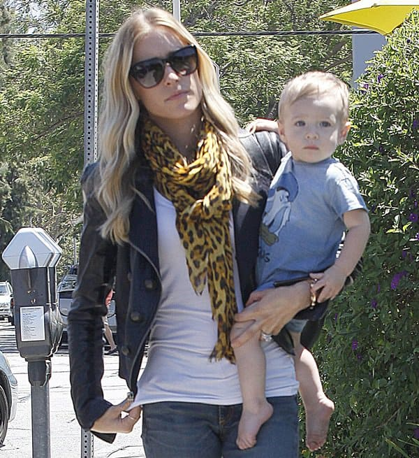Kristin Cavallari and her son, Camden, heading out to lunch at Lemonade in Los Angeles on July 30, 2013