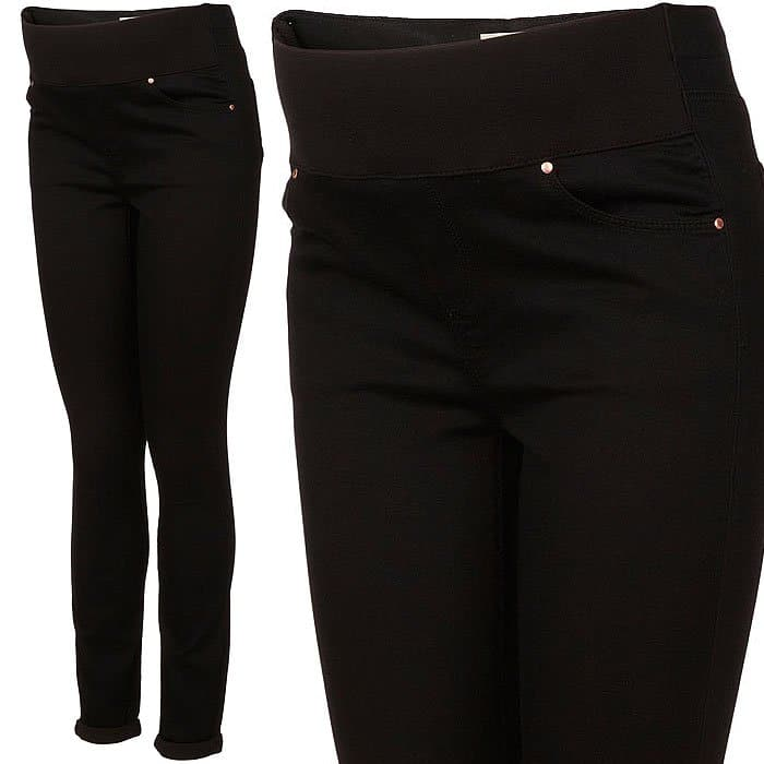 "Topshop Maternity MOTO Black ""Leigh"" Jeans"