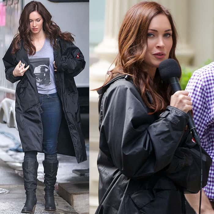Megan Fox filming 'Teenage Mutant Ninja Turtles' in New York City on June 14, 2013