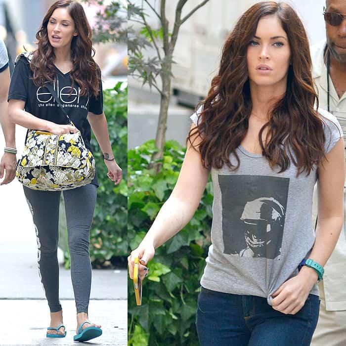 Megan Fox filming 'Teenage Mutant Ninja Turtles' in New York City on July 19, 2013