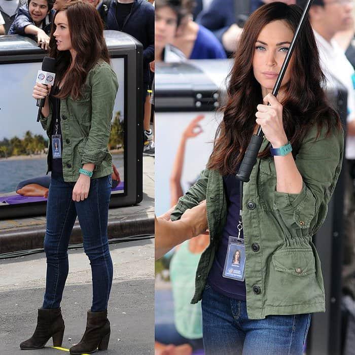 Megan Fox filming 'Teenage Mutant Ninja Turtles' in New York City on July 22, 2013