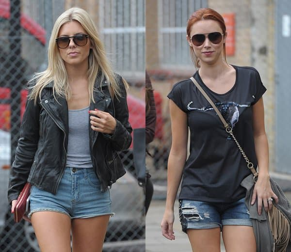 Who looked best wearing denim shorts? Mollie King or Una Healy?