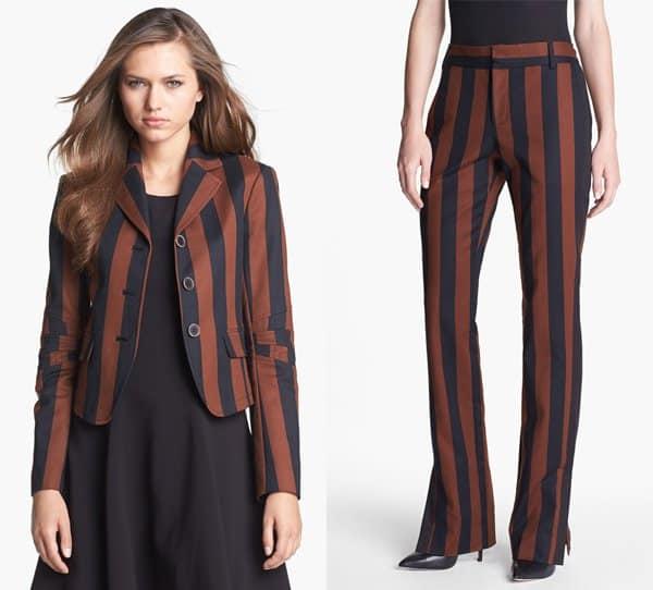 Rachel Roy Stripe Blazer and Rachel Roy Stripe Straight-Leg Pants