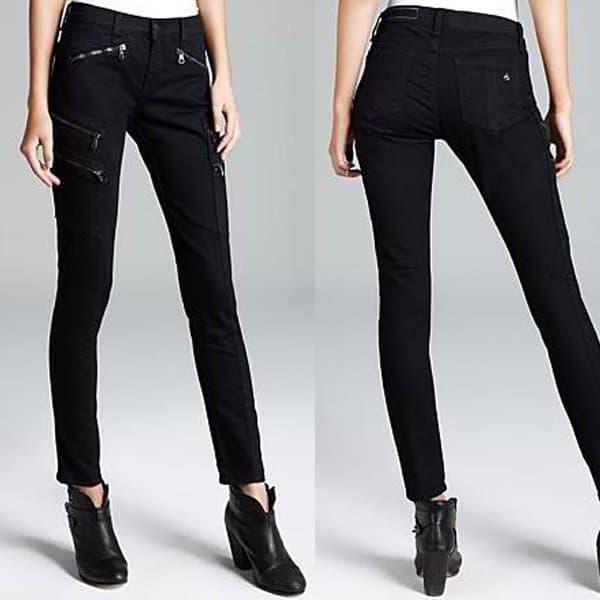 Rag & Bone/JEAN Zip-Pocked Jeans Lariat