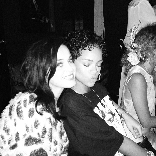 Though Rihanna was reportedly in the restaurant for only 30 minutes, she had time to take this pic of her and Katy and share it on Instagram