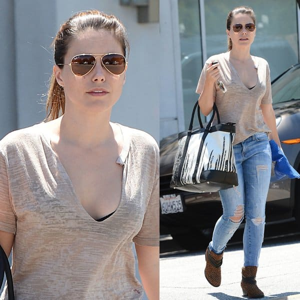 Sophia Bush spending an afternoon shopping and running errands in Beverly Hills, Los Angeles, on August 21, 2013