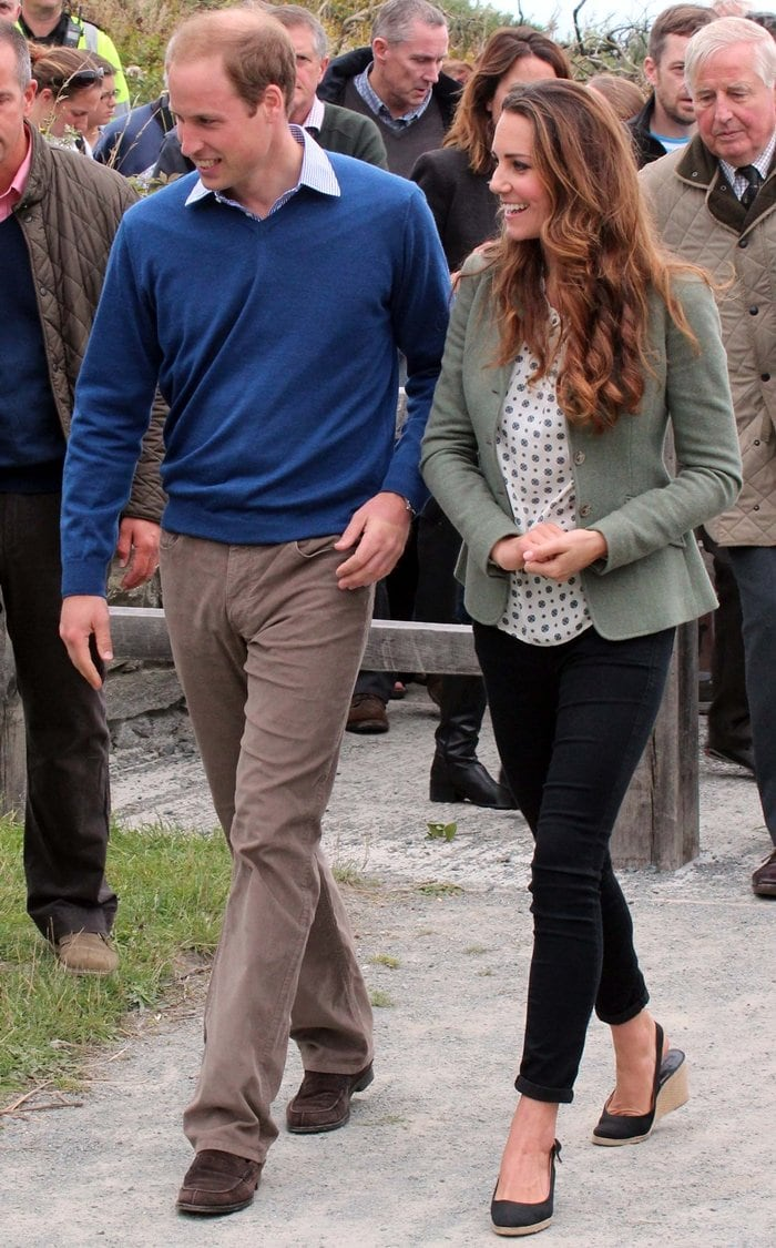 The Duke and Duchess of Cambridge at the Ring O'Fire Anglesey Coastal Ultra Marathon