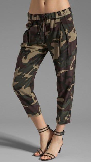 Haute Hippie Silk Pants in Fatigue Camo