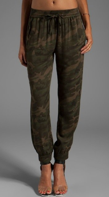 Lovers + Friends for Revolve Smocked Trousers in Camo